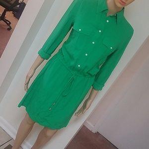 Lauren Ralph Lauren green shirt dress. Pre-owned